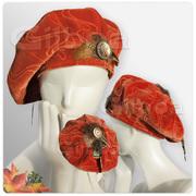 Rusty Red Velvet Beret by Gilboa