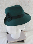 Green Fur Felt Fedora