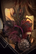 The Purple Peacock Dark Gothic Fascinator