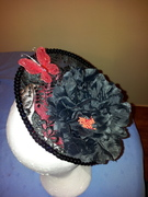 Vintage lace cocktail hat