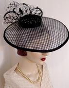 Texture Upon Texture Sinamay Dish Hat