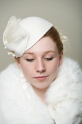Wedding Bride Ivory Hat Women