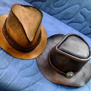 Pair of Leather Hats