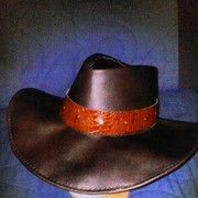 Crushable Leather Outback Style Hat