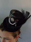 Mini Steampunk Leather Top Hat