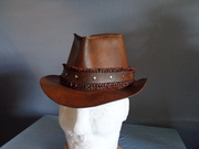 Rustic Leather Fedora