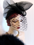 Pleated Crinoline Scultped Fascinator