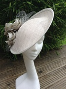 Silver grey up turn hat