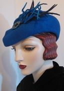 French Toque with Art Deco Button