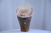 Ivory colored Mini Straw Top Hat