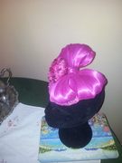 Gorgeous silk abaca fuschia fascinator