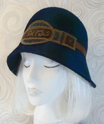 Downton Abbey style Hat / Teal Cloche