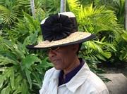 Woven sraw plait braid brim hat