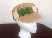 Palmetto straw woven crown cap