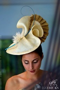 Cream and gold millinery