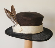 Two tone feather hat