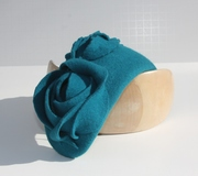 turquoise teal  50's style hat