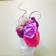 Pink leather headpiece