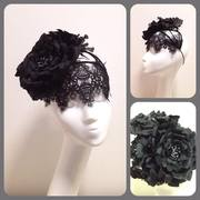 Venise lace and Peony Crown