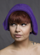 Cloche Purple Fur Felt