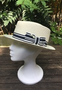 Straw hat with Pearl Pin by Anastasia Frei Hats&Accessories