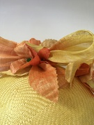 Straw beret with Silk Abaca Trim
