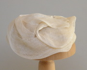 Ivory cocktail hat