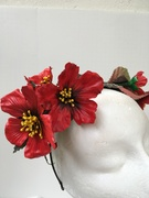 Red poppy flowers headpiece