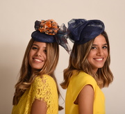 Royal blue cocktail hats
