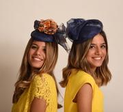 Royal blue cocktail hats