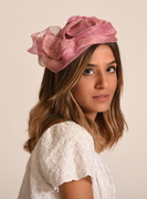 Pink cocktail hat