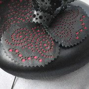 The Finished Hat- Detail of the Laser Cut Panels