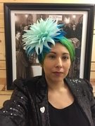 Ombre Blue Feather Headpiece from hatacademy feather class