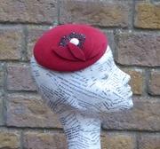 'RITA' - Fur Felt Vintage -look cocktail hat -P1020413X