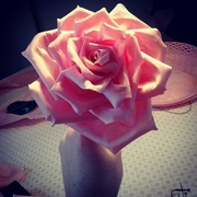 Handcrafted silk roses