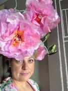 Silk flower headpiece