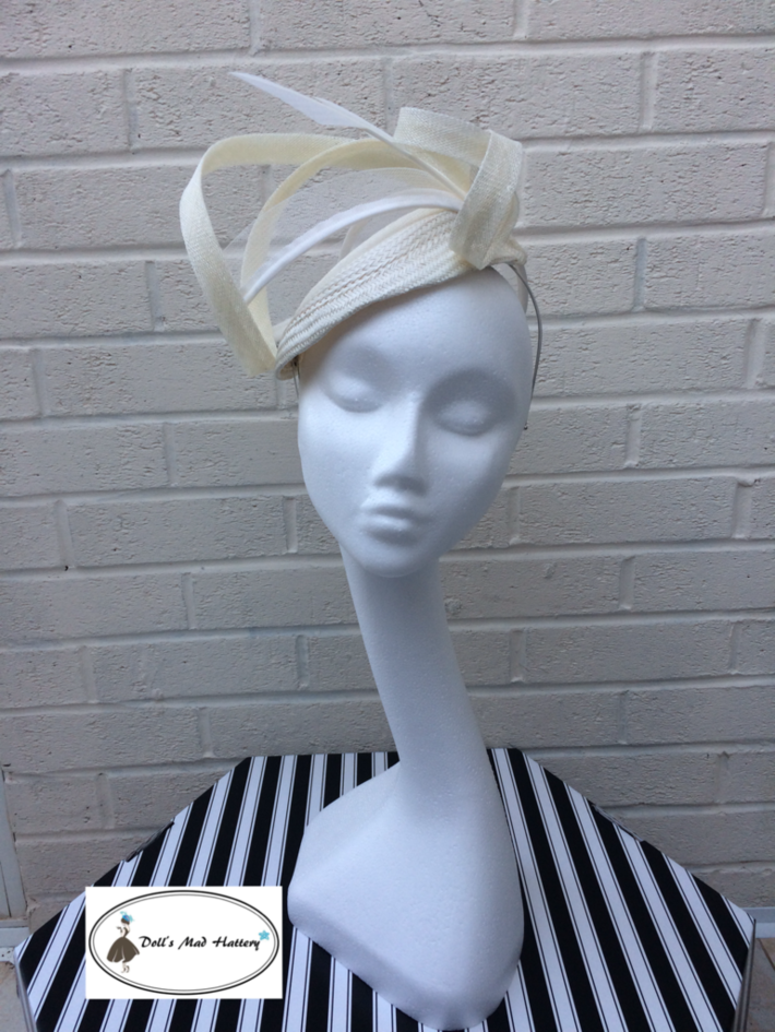 Doll's Mad Hattery ivory percher