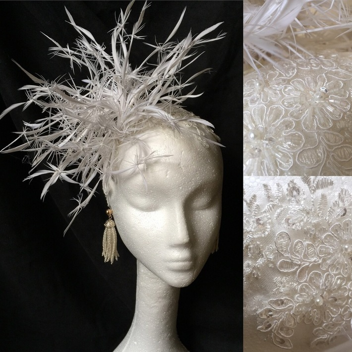 Feather and Lace Headband