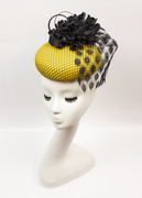 Yellow and Black Mesh Button