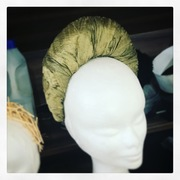 Silk turban crown