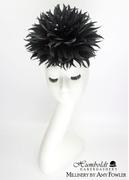 """Raven"" Feather Flower Headpiece"