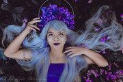 Iris Leather Halo Crown