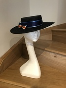 Custom boater worn to Royal Ascot