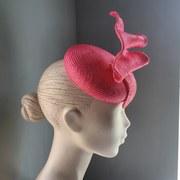 Pink wave cocktail hat