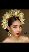The Gold Halo Leaf Crown By Urezkulture