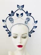 Custom leather halo crown