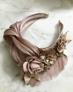 Blush and rose gold Turban style crown