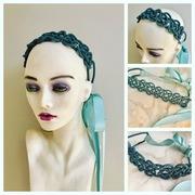 Rope headband with ribbon ties