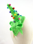 Christmas fascinator green wedding hat