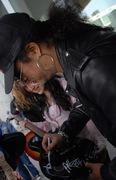 Slash signing GNR guitar